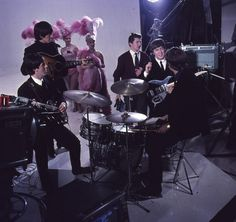 "Filming for ""Hard Day's Night"" at the Scala Theatre in London, March 1964"