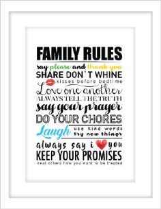 Say Please, Family Rules, You Promised, Say You, Prayers, How To Apply, Sayings, Frame, Picture Frame