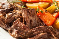 This is my favorite way to prepare the ever popular Sunday dinner...pot roast. Slow cooking and onion soup mix creates a delicious tender roast from an inexpensive cut of meat. Serve it up with a green salad and you have a great meal with little effort and almost zero minutes of prep. #Slowcooker #Potroast #Inexpensivecutmeat #Sundaydinner Perfect Pot Roast, Easy Pot Roast, Beef Pot Roast, Pot Roast Recipes, Slow Cooker Recipes, Beef Recipes, Cooking Recipes, Slow Cooking, Kale Recipes
