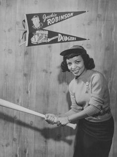 Ruby Dee (who turned 88 Oct 27!) as Jackie Robinson's wife Rachel in a publicity photo from Feb 1950 for the biopic 'The Jackie Robinson Story'. Photo by FPG/Archive Photos/Getty Images).