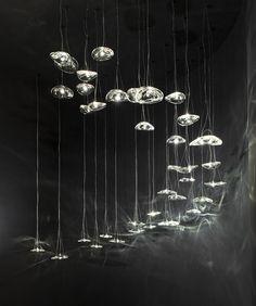 Onde di cristallo con luci Led: Manta by Terzani
