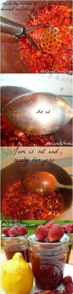 Want a strawberry jam recipe without loads of sugar and store bought pectin? Learn how to make this easy low sugar and no pectin recipe the old fashioned way. Seriously, our favorite and go to jam recipe. Love the tips on getting jam to set and comment section!