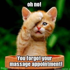 Don't forget your massage appt!