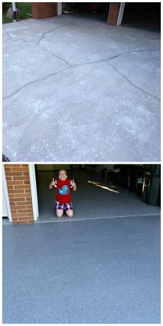 Decorative Concrete Driveway Resurfacing.  The toughest & quickest resurfacing product on the market . . . GraniFlex from The Concrete Protector!
