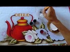 Pintando Chaleira Vermelha com Rosas Part. 2 - Ivanice Isabel - YouTube