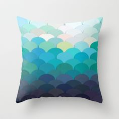 Teal Throw Pillow by Julia Alison - $20.00