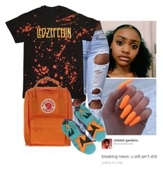 """🍊🍊"" by wavyjai ❤ liked on Polyvore featuring Fjällräven and NIKE"