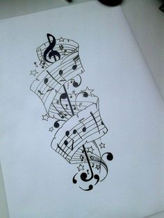 Musical tattoo design for later on today!