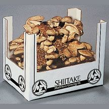 Shitake Mushroom Kit ** - These large, dark, plump mushrooms are highly prized for their delicious robust flavor, meaty texture and nutritional value. Our Shitake gardens are equipped with their own humidity tent and are guaranteed to produce a minimum of 2 to 5 pounds over a 2 to 4 month period. First crop matures in under 10 days. **Mushroom kits are sent directly from our supplier. You may place your order at any time of the year, but mushroom kits are only mailed from October to May.**