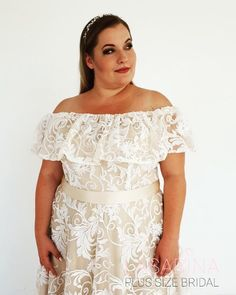 Beautiful plus size wedding dress from Lasabina Plus Size Bridal Denmark Girls, Plus Size Wedding, The Dress, More Photos, News Design, Plus Size Dresses, Bridal Dresses, September, Gowns