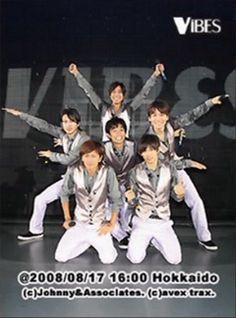 V6 in2008 VIBES concert Masayuki Sakamoto Hiroshi Nagano Yoshihiko Inohara Go Morita Ken Miyake Junichi Okada Nagano, Idol