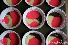 Planning an army or boot camp party for the kids? Use cake mix to whip up these easy camo cupcakes for the party! Pink Camo Birthday, Pink Camo Party, 21st Birthday, Birthday Cakes, Girl Birthday, Pink Camo Cupcakes, Baby Shower Camo, Boy Shower, How To Make Pink
