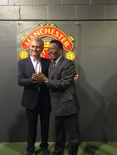 Jose Mourinho with Pele at SoccerAid.