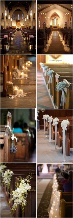 Wedding Decorations » 21 Stunning Church Wedding Aisle Decoration Ideas to Steal »   ❤️ See more:  http://www.weddinginclude.com/2017/05/stunning-church-wedding-aisle-decoration-ideas-to-steal/ #weddingideas