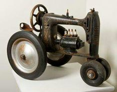 Sewing machine toy tractor mash up