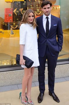 Happy couple: Olivia is currently engaged to German model Johannes Huebl...