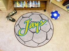 Creighton Blue Jays Soccer Ball Shaped Area Rug Welcome/Bath Mat