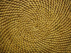 Bring an updated look to your home with this Weather Guard Radial Weave Kitchen Mat. The beautiful weave of natural fibers makes a design statement, adding an element of distinction to any room. Slip-resistant, this practical mat is stylish, too. Wood Wallpaper, Textured Wallpaper, Wood Texture, Texture Design, Natural Texture, Rattan, Wicker, Basket Weaving Patterns, Cool Doors