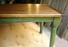 Custom Farm House Table Painted Turned Legs  by WoodworkerChris, $799.00. How much?!?
