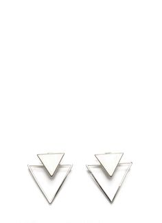 Two Of Us Triangle Backdrop Earrings SILVER