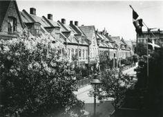 Udsigt fra frk. Bentzsens altan 1917. Kartoffelrækkerne på Østerbro i København. Højst sandsynligt Søren Berthelsens bopæl under opholdet i København 1916-17.