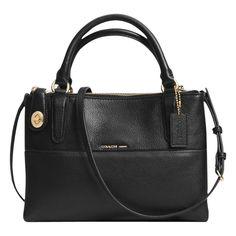 Coach Borough Mini Turnlock Leather Across Body Bag 91e145b16fdb7