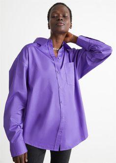 Voluminous Cotton Shirt - Purple - Shirts - & Other Stories GB