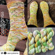 @savvyskeins has a few skeins of 'Spring In My Step' available.  It's the yarn used in my soon-to-be-released 'Flowers and Sunshine Pattern'. This is seriously gorgeousxyarn and it's awesome to work with.  I'm thinking of hosting a KAL with this pattern. Pattern to be released mid April  #Repost @savvyskeins with @repostapp  I am so excited about this!! This is a brand new (release date is set for the 16th-17th) pattern by Dana Gervais (my most FAVORITE sock designer!) called Flowers and…