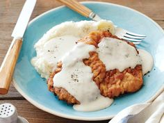 Chicken Fried Steak with Gravy from FoodNetwork.com