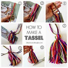How to make a tassel  ||  DIY tassel tutorial