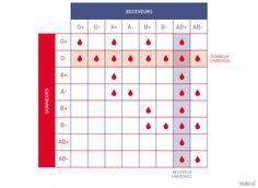 Les groupes sanguins et leur compatibilité