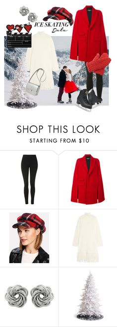 """""""Ice skating date"""" by fishshow ❤ liked on Polyvore featuring Topshop, Dsquared2, Iris & Ink, Grandin Road, Kate Sheridan and iceskatingoutfit"""