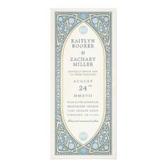 Wedding Invitations | Vintage Nouveau - invitations personalize custom special event invitation idea style party card cards
