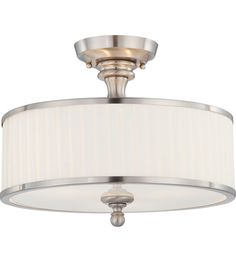 $129 less 15 ceilings flush mount Nuvo Lighting Candice 3 Light Semi-Flush in Brushed Nickel 60/4737