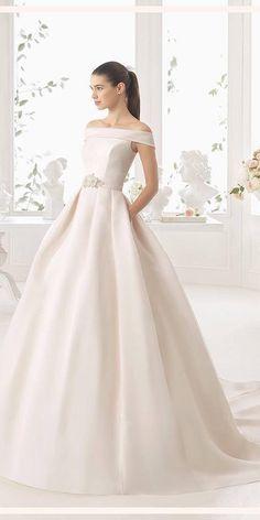 27 Simple Wedding Dresses For Elegant Brides ❤ See more: http://www.weddingforward.com/simple-wedding-dresses/ #wedding #dresses #simple