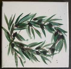 Esta Makrakis'  painting from the collection ''olive tree''