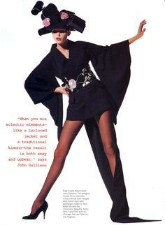 Vogue US July 1994, Fantastic Plastic & Other Wild IdeasNadja Auermann by Irving Penn