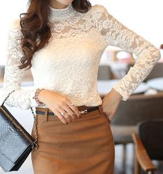 Always a fan of turtlenecks... and loving this lace one!