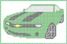 Chevy Camaro Car x-stitch