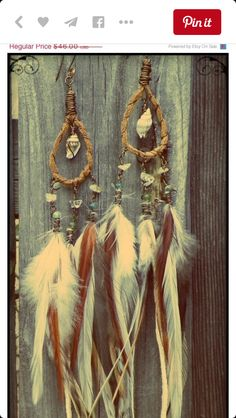 gypsy boho sea shell and feather earrings. Feather Jewelry, Feather Earrings, Boho Earrings, Boho Jewelry, Etsy Earrings, Jewelery, Fashion Jewelry, Jewelry Design, Jewelry Ideas