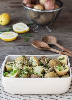 Recipe: Potato Salad with Lemon Tahini & Dill Dressing | Kitchn