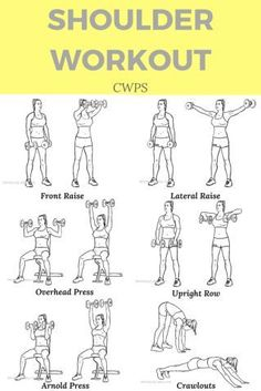 training workouts These delt exercises will give you the best shoulder workout! Shoulder exercises train all of your deltoid muscles. This workout should be done with weights for maximum benefit! Get those shoulders in shape! Workout Cardio, Gym Workouts, At Home Workouts, Workout Guide, Workout Plans, Workout Ideas, Strength Training, Training Workouts, Shoulder Workout