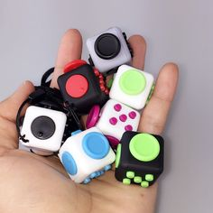 Cute New Fidget Cube Anxiety Stress Relief Focus Toys Gift Camouflage Mini Puzzle CubeWith Key Pendant