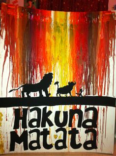 disney melted crayon art - Google Search