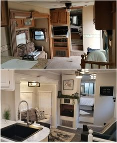 Best RV Renovations Ideas To Prepare This Winter Season 32 . Caravan Renovation Before And After Camper Renovation Rv Interior Remodel Interior Trai.