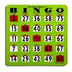 With our deluxe transparent red plastic slide window Finger-tip Bingo Jumbo Slide Shutter Cards, a flick of the finger marks the number and are great additions to your bingo event. Great for bus trips, school events, company picnics, and family reunions. Company Picnic, School Events, Bingo Cards, Board Games, Number Combinations, The Incredibles, Reading, Easy