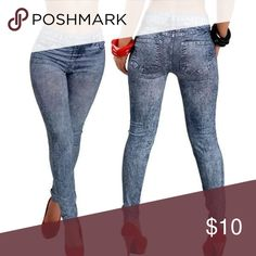 5eefd5ace2 Snowflake Denim Soft Leggings Cotton leggings. Cute and sexy Jeans Skinny Sexy  Jeans