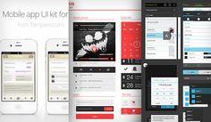 15 Free Mobile App UI PSD Kits