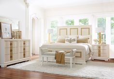 Clearance Tower Suite Pearl 4 Piece Queen Bedroom Set