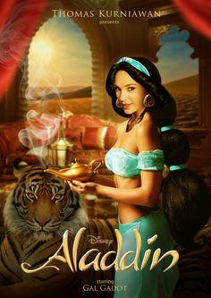 Disney Princess Celebrity starring Gal Gadot as Jasmine (Aladdin) by Thomas Kurniawan (@TOM KUU)
